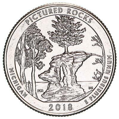 2018 D Parks Quarter ATB Pictured Rocks National Lakeshore Choice BU CN-Clad
