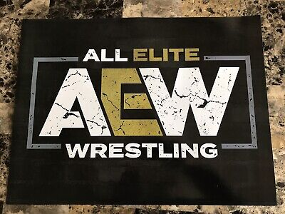 AEW All Elite Wrestling Official 18x24 Poster From Vegas Rally Double Or Nothing
