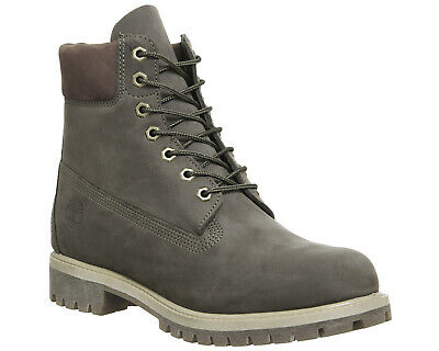Mens Timberland Grey Leather Lace Up Ankle Boots Size UK 8  Ex-Display 40263af855ef