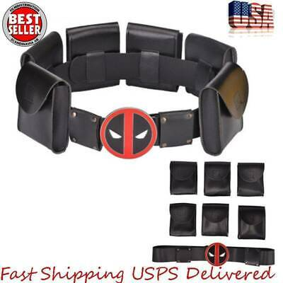X-Men Superhero Metal Belt  Deadpool Accessories Kid Adult Cosplay Costume