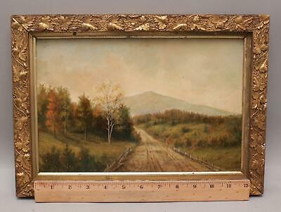 19thC Antique SAMUEL S MILES White Mountains NH Landscape Oil Painting, NR