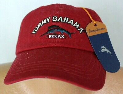8e08b9b40a8 Tommy Bahama Hat THE ARUBA RELAXER CAP in a Riviera Red MSRP  39.50 NWT -  OSFA