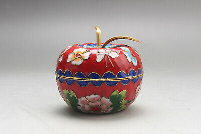 Exquisite Chinese painting flower Cloisonne box ar492