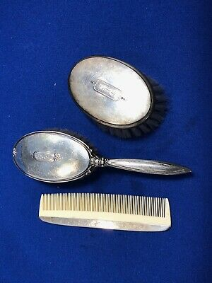 Birks Sterling Silver Childs Brush and Comb Set 3 pieces