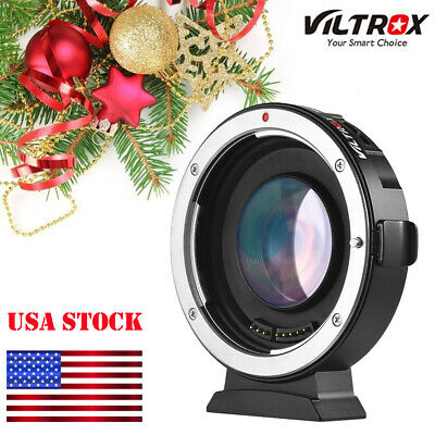 Viltrox EF-M2 Auto Focus Speed Booster Lens Adapter 0.71X for Canon EF Lens M4/3