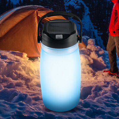 Portable Lanterns Solar LED Charging Bottle Water Cup Lamp Silicone Tent Lamp