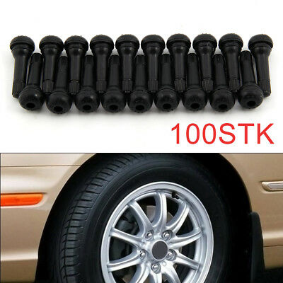 100 X Tr414 New Tubeless Rubber Car Tyre Wheel Valves