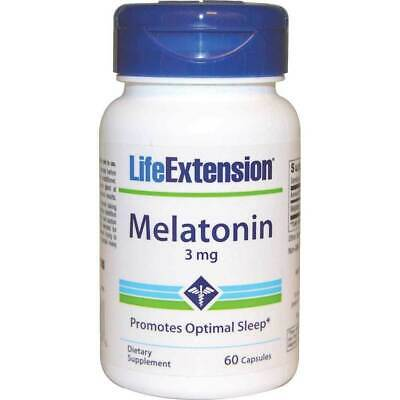 Melatonin Sleep Supplement 3mg 60 Tablets | Life Extension Pills Caps Capsules