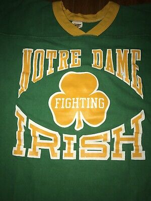 bdf34a329 Vintage Notre Dame T Shirt 1970s Russell Athletic Fighting Irish 70s Vtg  Size L