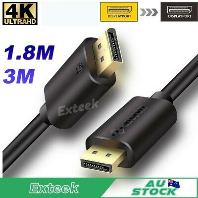 Premium Displayport M/M Cable v1.2 Display Port to DP Cord Male to Male 2K*4K AU