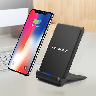 10W Qi Wireless Fast Charger Dock Stand Foldable Holder Pad For Samsung S9 S8 S7