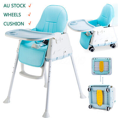 Adjustable Booster Portable Baby Toddler Highchair Feeding Table Seat High Chair