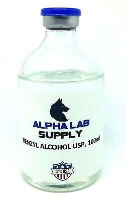 100mL Benzyl Alcohol, USP Grade Sterile - Free Shipping