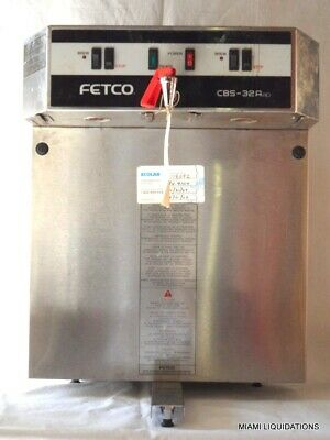 Fetco CBS-32Aap Dual commercial coffee brewer maker Stainless Steel