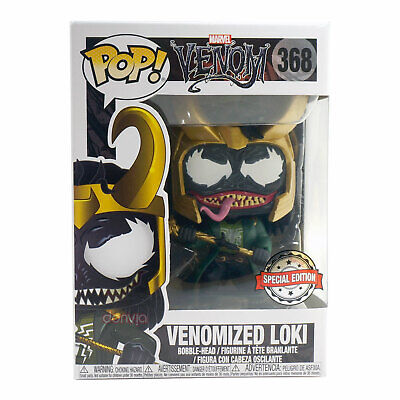 Funko Pop Marvel Venom Venomized Loki #368 Special Edition Bobble-Head Figure