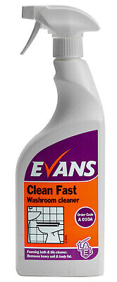 Evans Clean Fast - Heavy Duty Acidic Bactericidal Cleaner 750ml