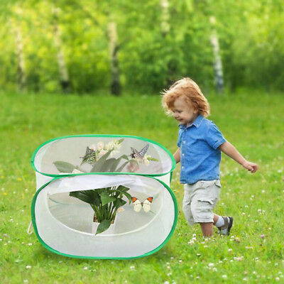 White Kids Creative Insect Butterfly Breeding Cage Habitat Net Keeper Outdoor 8C