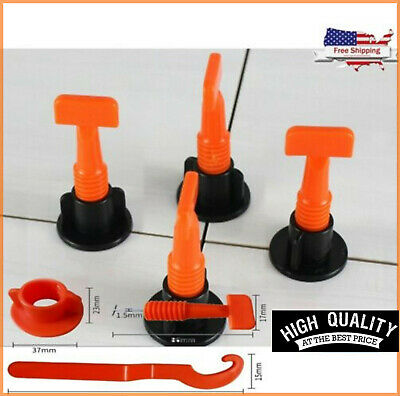 50x Flat Ceramic Floor Wall Construction Tools Kit Reusable Tile Leveling System