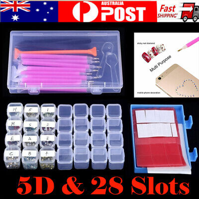 66pcs DIY Stitch Embriodery Accessories 5D Diamond Nails Painting Kit With Case