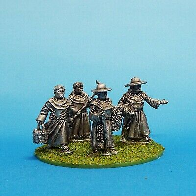 28mm  Medieval Friars 2 Lion Rampant Saga  cross and crescent. Unpainted.