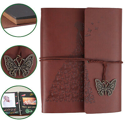 PU Leather Photo Album Storage Leather Scrapbook Travel Holiday Vintage Gift DIY