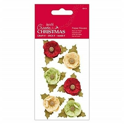 Create Christmas Paper Flowers (6 Pieces) -agnek, Multi, One Size