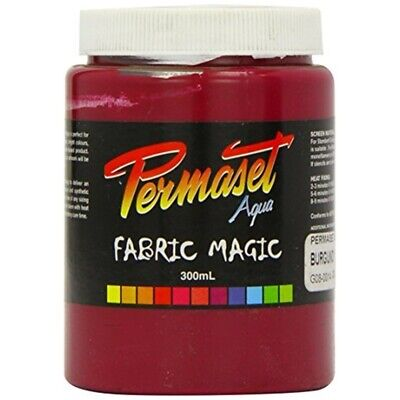 Permaset Aqua Supercover 300ml Fabric Printing Ink - Burgundy