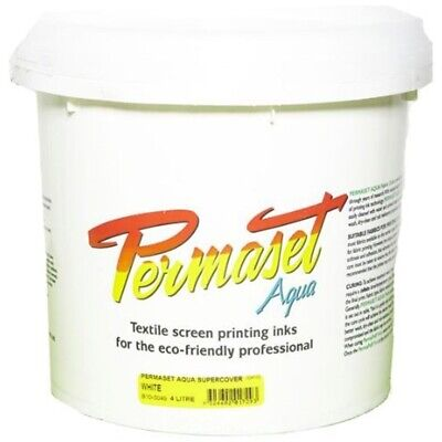 Permaset Aqua Supercover 4 Litre Fabric Printing Ink - White