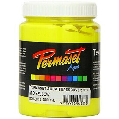 Permaset Aqua Supercover 300ml Fabric Printing Ink - Mid Yellow
