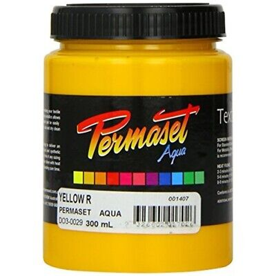 Permaset Aqua 300ml Fabric Printing Ink - Yellow - Screen Standard