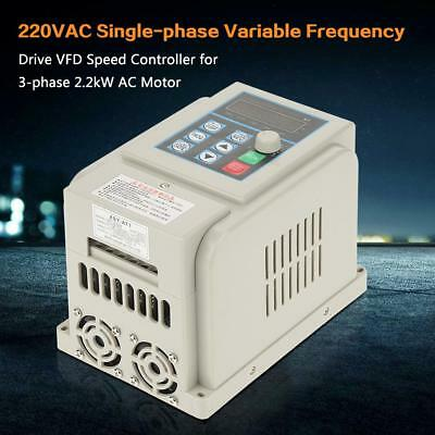 2.2kW 12A 220V Single To 3 Phase Variable Frequency Drive Inverter PWM Control