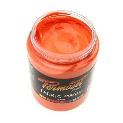Permaset Aqua Super 300ml Fabric Printing Ink - Glow Orange - Cover