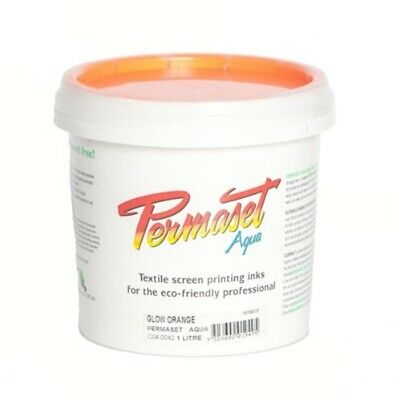Permaset Aqua Glow 1 Litre Fabric Printing Ink - Orange
