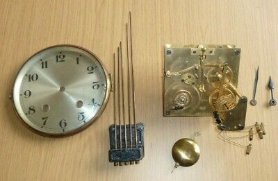 Vintage Isgus/Jsgus quarter chiming mantel clock movement for spares