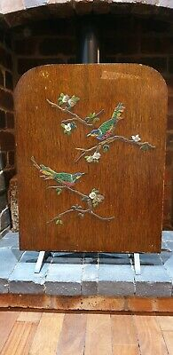 Vintage Wooden Hand Painted Fire Screen - Collection Preferred