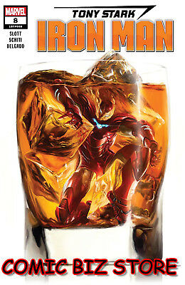 Tony Stark Iron Man #8 (2019) 1St Printing Main Cover Bagged & Boarded Marvel