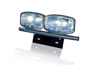 To Fit 2014+ Vauxhall Opel Vivaro Number Plate Front Bar + Jumbo Spot Lamps x2