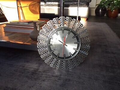 Vintage 1970s Smiths Timecal Astral Wall Clock - Space Age - Metamec Style