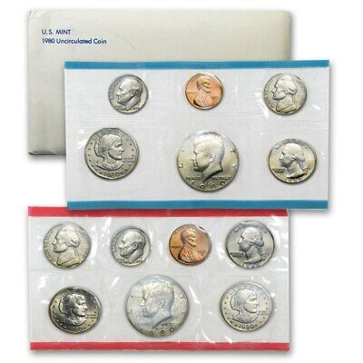 1980 US 13 Piece Mint Set in original packaging from US mint Uncirculated