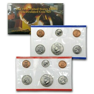 1995 Various Mint Marks 10 Piece Coin Set Uncirculated