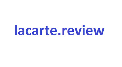 lacarte.review  -- TLD --  Starting Price is 25% of Value + Transfer Fee