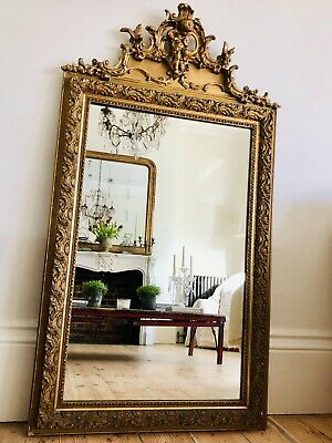 Antique French 19th Century Gilt Cherub Mirror  - Super Condition