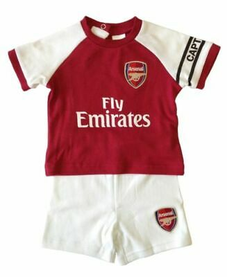 83f164dc5a8 ARSENAL FC OFFICIAL Football Gift 2Pk Home Away Kit Baby Bodysuits ...