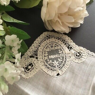 Vintage / Antique Lace Handkerchief ~ Very Pretty For Wedding Etc BRUXELLES