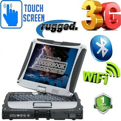 Panasonic Laptop RUGGED Car Diagnostic Toughbook CF-19 MK3 FAST & FREE DELIVERY