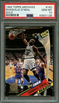 1992 93 Topps Archives Gold Shaquille Oneal Rookie Card