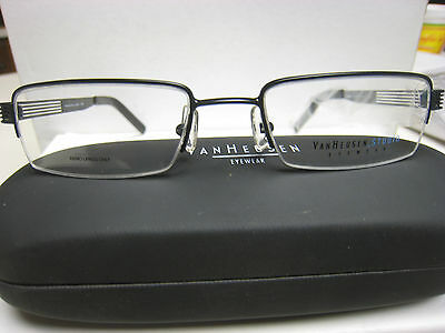 95b66a10841 VAN HEUSEN EYEGLASS FRAMES Style Beneficiary BLACK 53-19-140 With PEPSI Case