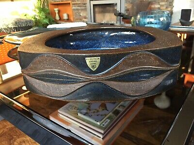 Rare 1970s Michael Anderson & Sons Bonholm Denmark Large Bowl by Marianne Starck