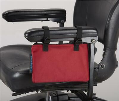Mobility Scooter / Wheelchair armrest bag, New from Ducksback Red
