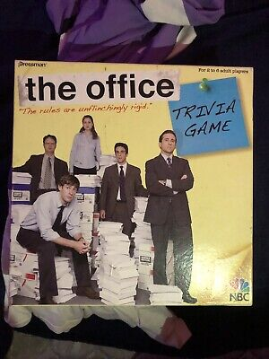 The Office Board Game Trivia Dunder Mifflin Pressman 2008 NBC COMPLETE